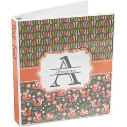 Fox Trail Floral 3-Ring Binder (Personalized)