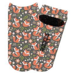 Fox Trail Floral Adult Ankle Socks (Personalized)