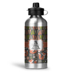 Fox Trail Floral Water Bottle - Aluminum - 20 oz (Personalized)
