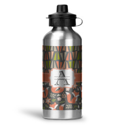 Fox Trail Floral Water Bottle - Aluminum - 20 oz (Personalized)