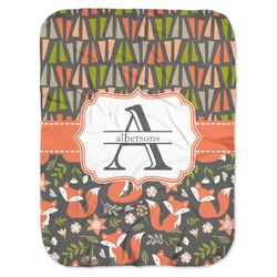 Fox Trail Floral Baby Swaddling Blanket (Personalized)