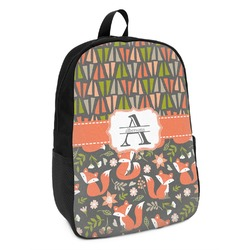 Fox Trail Floral Kids Backpack (Personalized)
