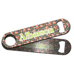 Fox Trail Floral Bar Bottle Opener w/ Name and Initial