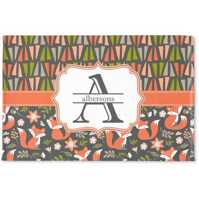 Fox Trail Floral Woven Mat (Personalized)