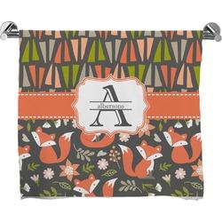 Fox Trail Floral Full Print Bath Towel (Personalized)