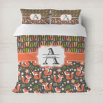 Fox Trail Floral Duvet Cover (Personalized)