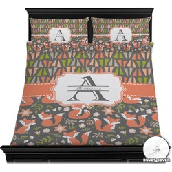 Fox Trail Floral Duvet Cover Set (Personalized)