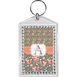 Fox Trail Floral Bling Keychain (Personalized)