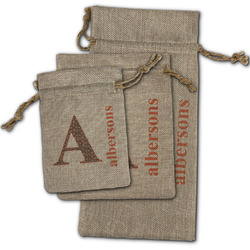 Fox Trail Floral Burlap Gift Bags (Personalized)