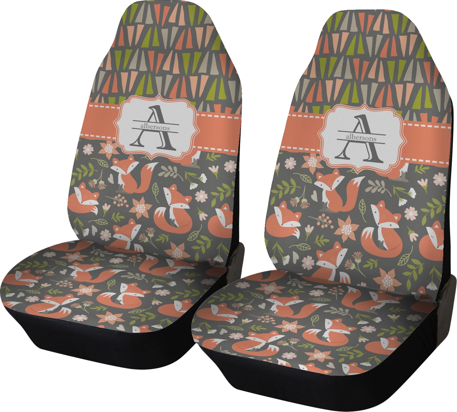 Fox Trail Floral Car Seat Covers (Set of Two ...
