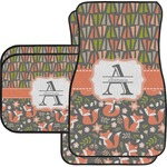 Fox Trail Floral Car Floor Mats (Personalized)