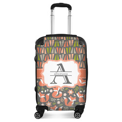 Fox Trail Floral Suitcase (Personalized)
