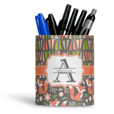 Fox Trail Floral Ceramic Pen Holder