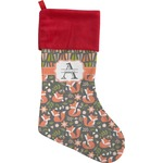 Fox Trail Floral Christmas Stocking (Personalized)