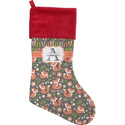 Fox Trail Floral Christmas Stocking - Single-Sided (Personalized)