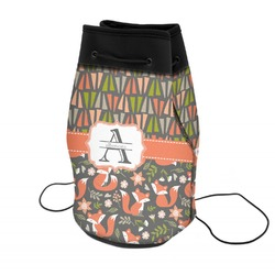 Fox Trail Floral Neoprene Drawstring Backpack (Personalized)