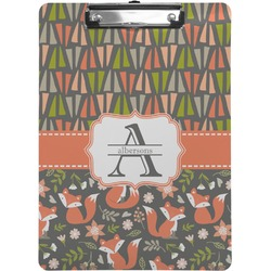 Fox Trail Floral Clipboard (Personalized)