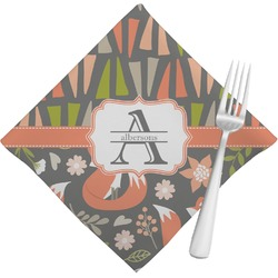 Fox Trail Floral Napkins (Set of 4) (Personalized)