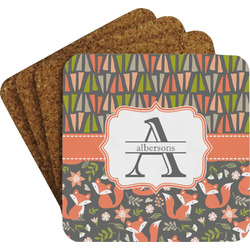 Fox Trail Floral Coaster Set (Personalized)