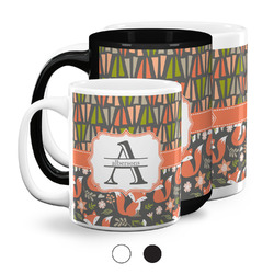 Fox Trail Floral Coffee Mugs (Personalized)