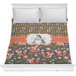 Fox Trail Floral Comforter (Personalized)