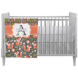 Fox Trail Floral Crib Comforter / Quilt (Personalized)