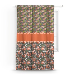Fox Trail Floral Curtain (Personalized)