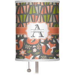 """Fox Trail Floral 7"""" Drum Lamp Shade (Personalized)"""