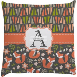Fox Trail Floral Decorative Pillow Case (Personalized)
