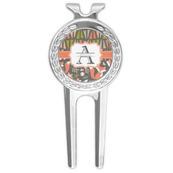 Fox Trail Floral Golf Divot Tool & Ball Marker (Personalized)