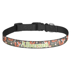Fox Trail Floral Dog Collar (Personalized)