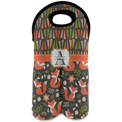 Fox Trail Floral Wine Tote Bag (2 Bottles) (Personalized)