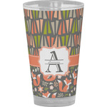 Fox Trail Floral Drinking / Pint Glass (Personalized)