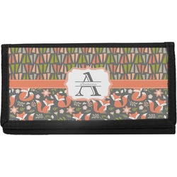 Fox Trail Floral Canvas Checkbook Cover (Personalized)