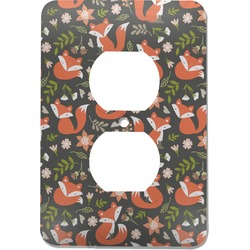 Fox Trail Floral Electric Outlet Plate (Personalized)