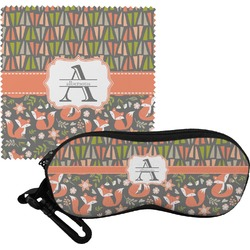 Fox Trail Floral Eyeglass Case & Cloth (Personalized)