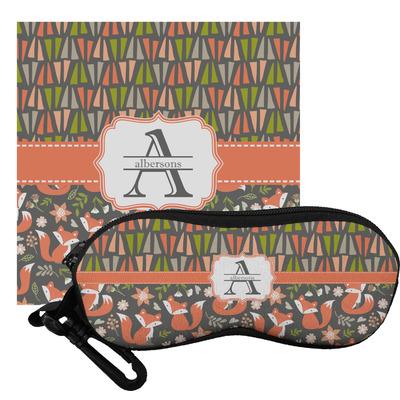 Fox Trail Floral Eyeglass Case & Cloth (Personalized)