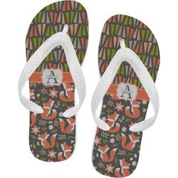 Fox Trail Floral Flip Flops (Personalized)