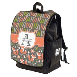 Fox Trail Floral Backpack w/ Front Flap  (Personalized)