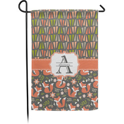 Fox Trail Floral Garden Flag - Single or Double Sided (Personalized)