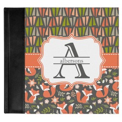 Fox Trail Floral Genuine Leather Baby Memory Book (Personalized)