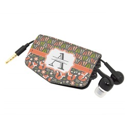 Fox Trail Floral Genuine Leather Cord Wrap (Personalized)