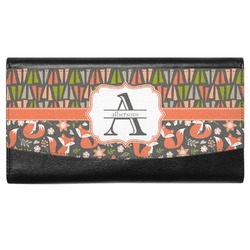 Fox Trail Floral Genuine Leather Ladies Wallet (Personalized)