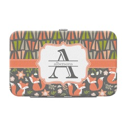 Fox Trail Floral Genuine Leather Small Framed Wallet (Personalized)