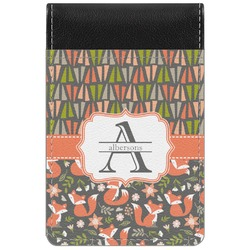 Fox Trail Floral Genuine Leather Small Memo Pad (Personalized)