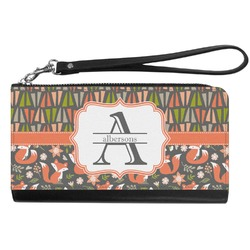 Fox Trail Floral Genuine Leather Smartphone Wrist Wallet (Personalized)