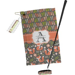 Fox Trail Floral Golf Towel Gift Set (Personalized)