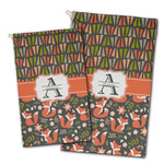 Fox Trail Floral Golf Towel - Full Print w/ Name and Initial