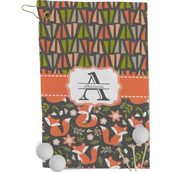 Fox Trail Floral Golf Towel - Full Print (Personalized)