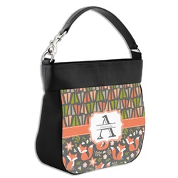 Fox Trail Floral Hobo Purse w/ Genuine Leather Trim (Personalized)